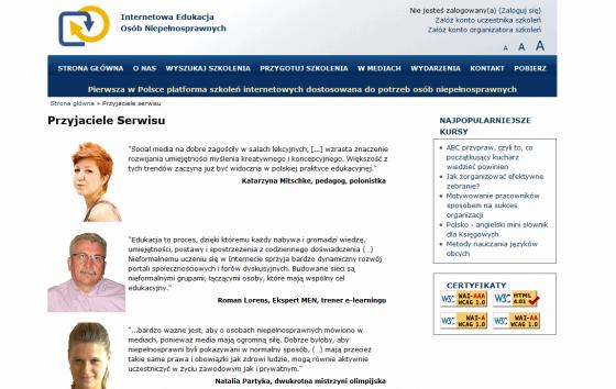 Internetowa Edukacja Osób Niepełnosprawnych